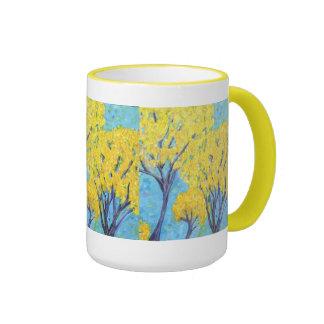 The yellow trees mug