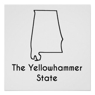 The Yellowhammer State Poster