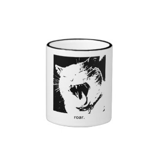 The YES I AM (roar), starring Belly the Cat Ringer Coffee Mug