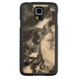THE YIN AND THE YANG (a Black & White design) ~ Carved® Maple Galaxy S5 Case