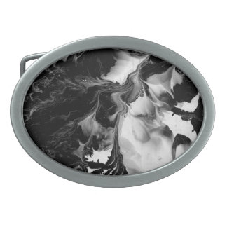THE YIN & THE YANG (black & white abstract art) ~. Belt Buckle