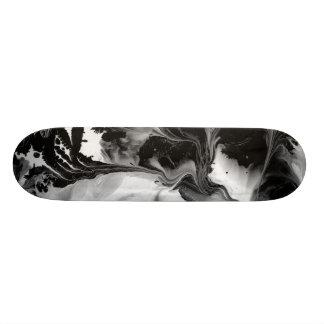 THE YIN & THE YANG (black & white abstract art) ~. Skateboard Deck