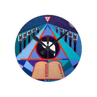 The Yod Letter - Hebrew alphabet Round Clocks