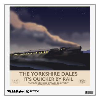 The Yorkshire Dales Railway poster Wall Decal