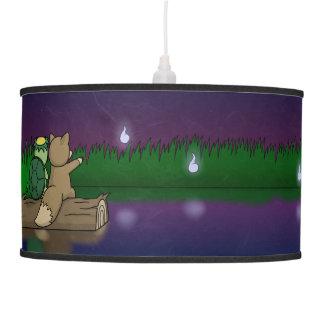 The Youkai Pond- Kappa and Kitsune Ceiling Lamp