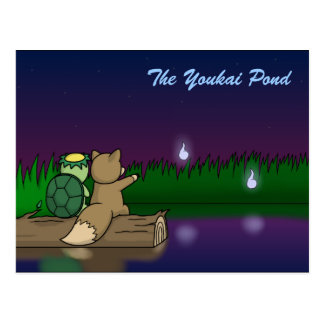 The Youkai Pond- Kappa and Kitsune Postcard