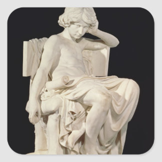 The Young Aristotle, 1870 Square Sticker