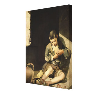 The Young Beggar, c.1650 Canvas Print