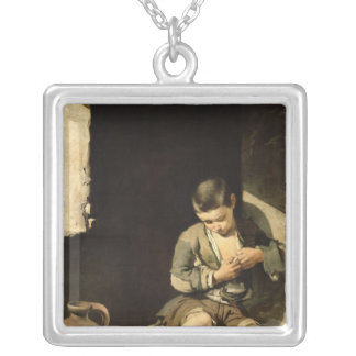 The Young Beggar, c.1650 Silver Plated Necklace