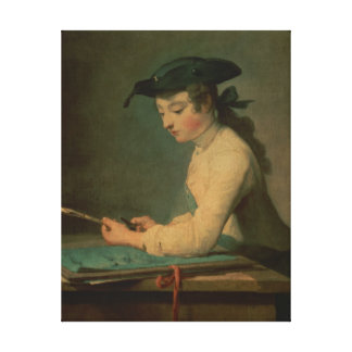 The Young Draughtsman, 1737 Canvas Print