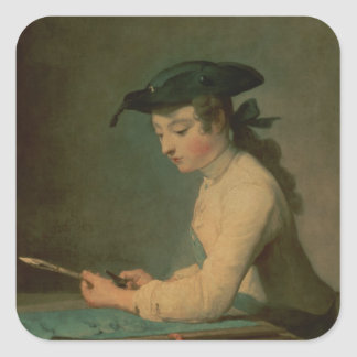 The Young Draughtsman, 1737 Square Sticker