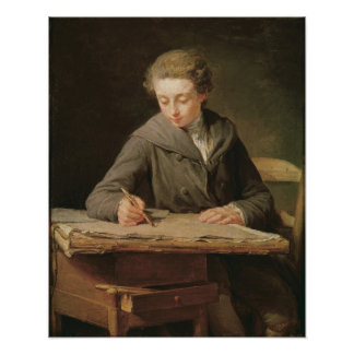 The young draughtsman, Carle Vernet, 1772 Poster