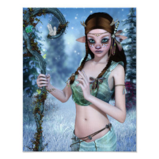 The Young Druid Canvas/Poster Print