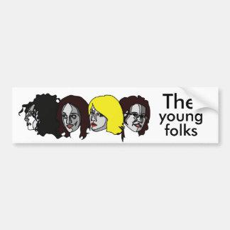 The young folks carte The young folks Pegatina De Parachoque