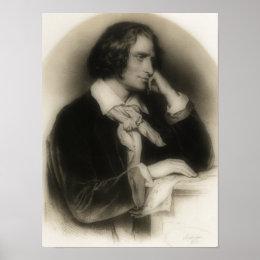the young Franz Liszt -portrait Poster