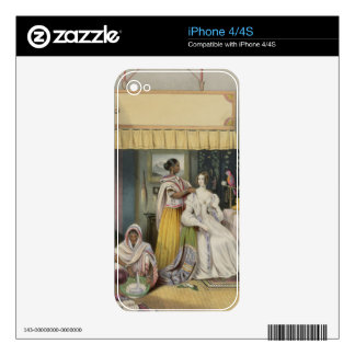The Young Lady s Toilet plate 2 from Anglo India iPhone 4 Skins