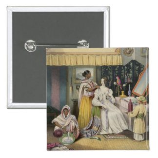 The Young Lady's Toilet, plate 2 from 'Anglo India Button