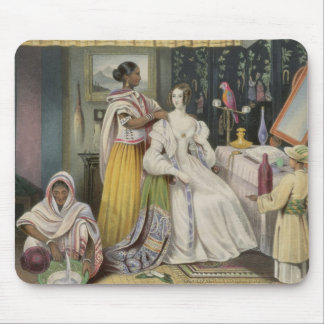 The Young Lady's Toilet, plate 2 from 'Anglo India Mouse Pad