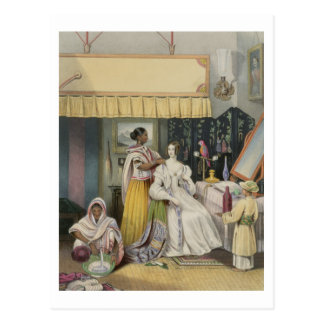 The Young Lady's Toilet, plate 2 from 'Anglo India Postcard
