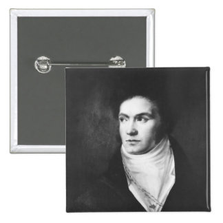 The young Ludwig van Beethoven  1806 2 Inch Square Button