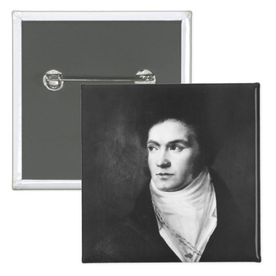 The young Ludwig van Beethoven  1806 Button