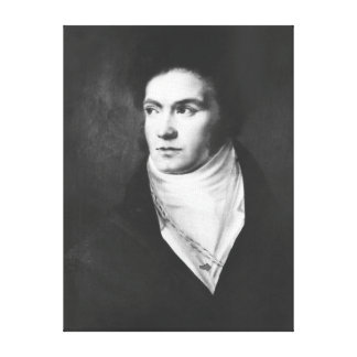 The young Ludwig van Beethoven  1806 Canvas Print