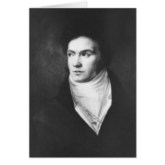 The young Ludwig van Beethoven 1806 Greeting Cards