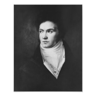 The young Ludwig van Beethoven  1806 Poster