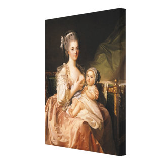The Young Mother, c.1770-80 Stretched Canvas Print