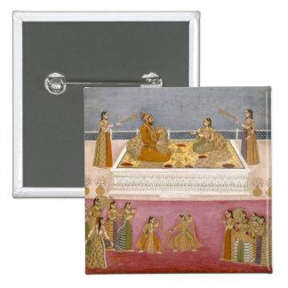 The young Mughal Emperor Muhammad Shah at a nautch Pin