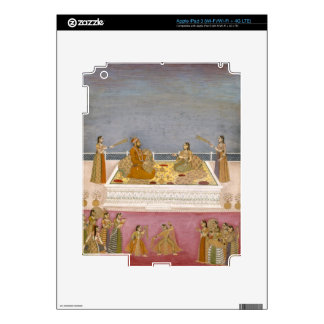 The young Mughal Emperor Muhammad Shah at a nautch iPad 3 Decal