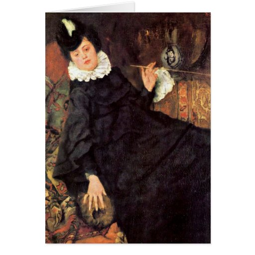 The Young Parisian Woman By Wilhelm Leibl Card