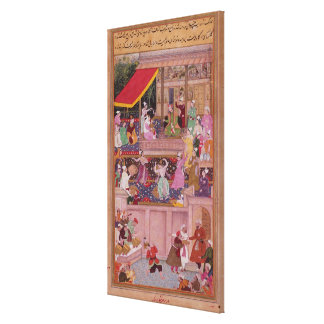 The young Prince with his parents, from the 'Akbar Canvas Print