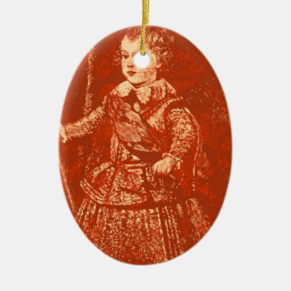 the Young Queen Ceramic Ornament