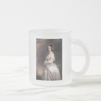 The Young Queen Victoria Frosted Glass Coffee Mug