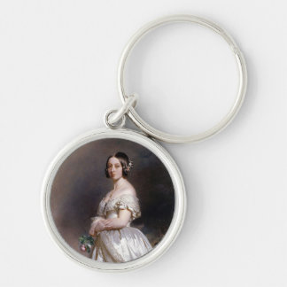 The Young Queen Victoria Silver-Colored Round Keychain