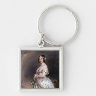 The Young Queen Victoria Silver-Colored Square Keychain