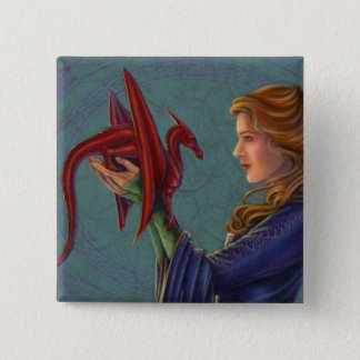 The Young Red Dragon Button