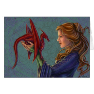 The Young Red Dragon Card
