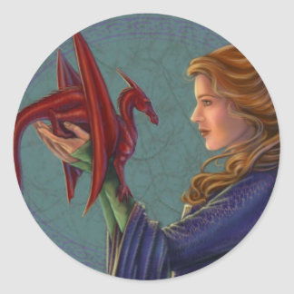 The Young Red Dragon Classic Round Sticker