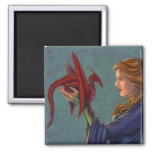 The Young Red Dragon Fridge Magnets