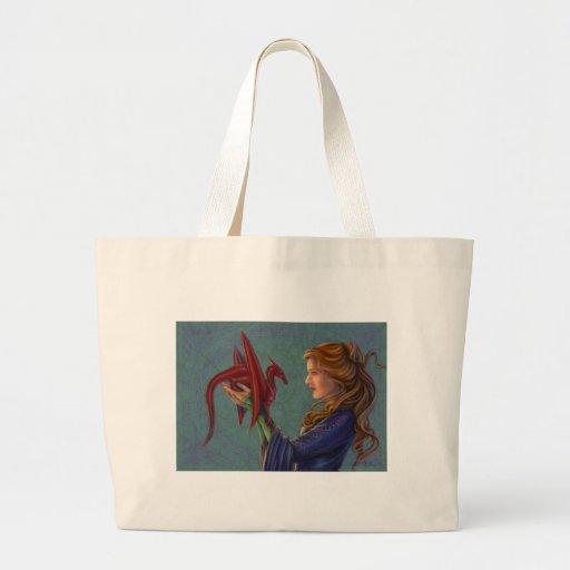 The Young Red Dragon Jumbo Tote Bag
