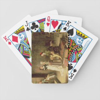 The Young Sculptress (oil on canvas) Bicycle Playing Cards