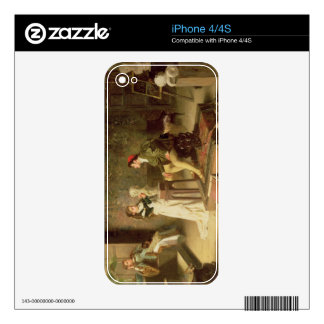 The Young Sculptress (oil on canvas) Decals For The iPhone 4S