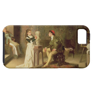 The Young Sculptress (oil on canvas) iPhone SE/5/5s Case