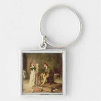 The Young Sculptress (oil on canvas) Keychain