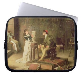 The Young Sculptress (oil on canvas) Laptop Sleeve
