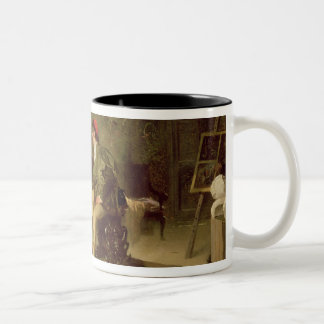The Young Sculptress (oil on canvas) Two-Tone Coffee Mug