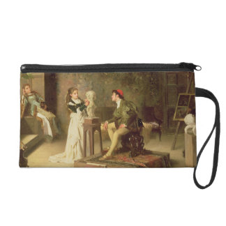 The Young Sculptress (oil on canvas) Wristlet