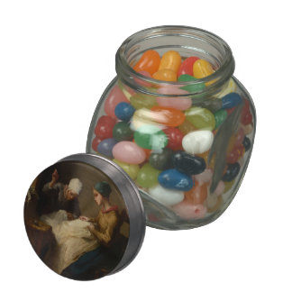The Young Seamstress by Jean-Francois Millet Jelly Belly Candy Jars
